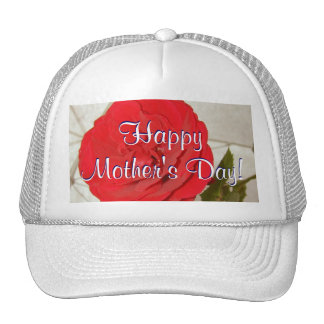 Happy Mother's Day Red Rose Trucker Hat