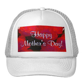 Happy Mother's Day Red Roses Trucker Hat