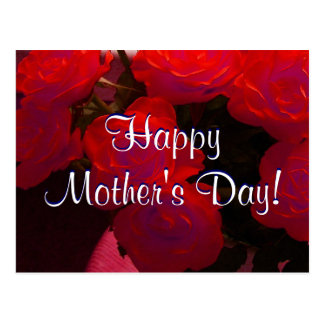 Happy Mother's Day Red Roses I Postcard
