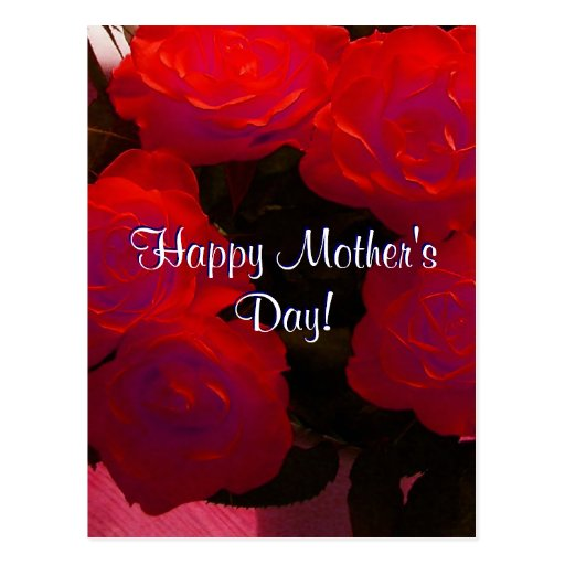 Happy Mother's Day Red Roses Postcard