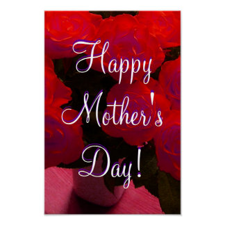 Happy Mother's Day Red Roses Poster