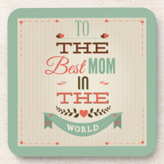 Happy Mother's Day Retro Greeting Coaster