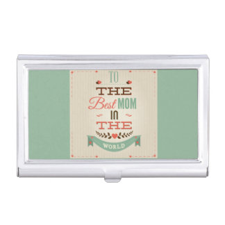 Happy Mother's Day Retro Greeting Business Card Holders