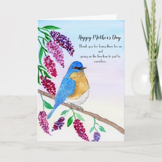 Happy Mother's Day Robin In Wisteria Tree Card