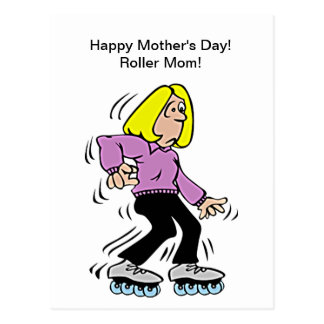 Happy Mother's Day Roller Mom Postcard