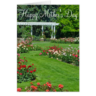 Happy Mother's Day rose garden greeting card