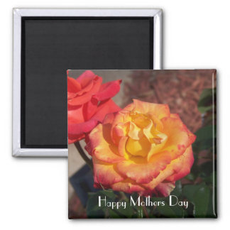 Happy Mothers Day Rose Magnet