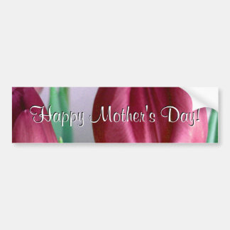 Happy Mother's Day Rosey Tulips Bumper Sticker
