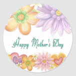 Happy Mothers Day Round Stickers