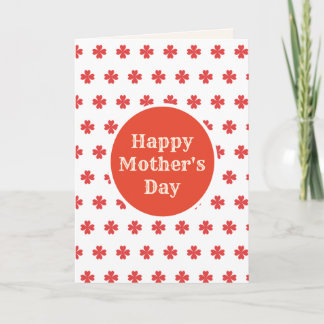 Happy Mother's Day Shamrocks Card