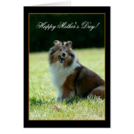 Happy Mother's Day Shetland Sheepdog greeting card