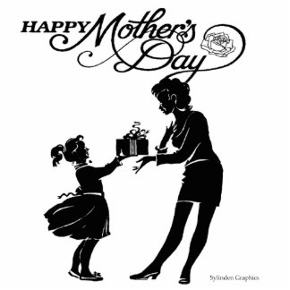 Happy Mothers Day Silhouette Cutout