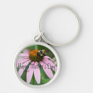 Happy Mother's Day Silver-Colored Round Keychain