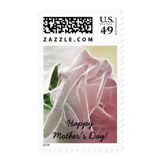 Happy Mother's Day! - Single Pink Rose Basics Postage