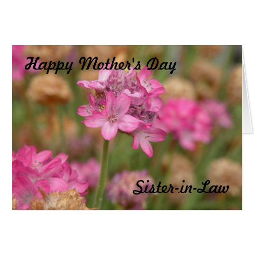 Happy Mother's Day Sister-in-Law Card | Zazzle