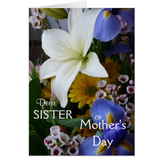 Happy Mother's Day-Sister-Pretty Floral Greeting Cards