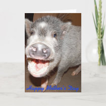 Happy Mother's Day Smiling Pig Card
