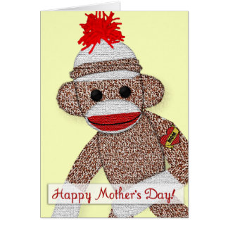 """""""Happy Mother's Day!"""" Sock Monkey Tattoo card"""