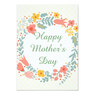 Happy Mother's Day Spring Flowers Card
