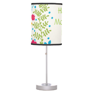 Happy Mother's Day Spring Flowers Desk Lamp