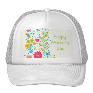 Happy Mother's Day Spring Flowers Trucker Hat