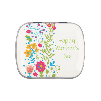 Happy Mother's Day Spring Flowers Jelly Belly Tin