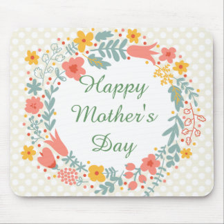 Happy Mother's Day Spring Flowers Mouse Pad