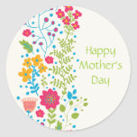 Happy Mother's Day Spring Flowers Stickers
