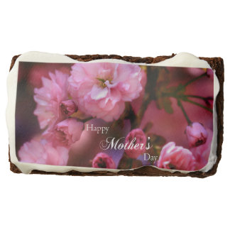 Happy Mothers Day Spring Pink Cherry Blossoms Brownie