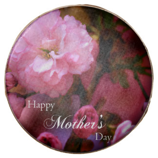 Happy Mothers Day Spring Pink Cherry Blossoms Chocolate Dipped Oreo