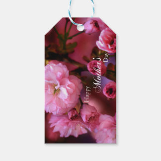 Happy Mothers Day Spring Pink Cherry Blossoms Gift Tags
