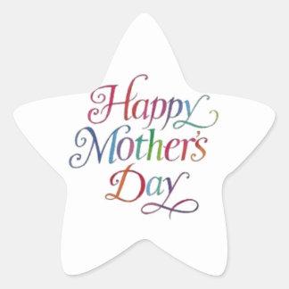 Happy Mother's Day! Star Sticker