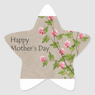 Happy Mothers Day Star Sticker