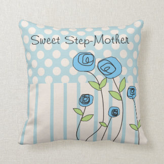 "Happy Mother's Day Stepmother ""Sweet Step-Mother"" Throw Pillow"