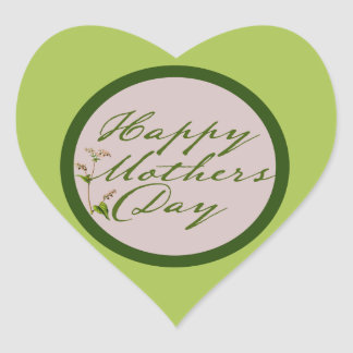 Happy Mothers Day Heart Sticker