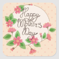 Happy Mother's day sticker vintage