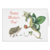 Happy Mother's Day Strawberry Dragon Card