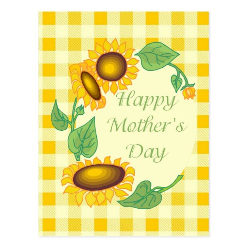 Happy Mother's Day Sunflower Tees Postcard