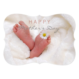 Happy Mother's Day Sweet Baby Feet Greeting Card