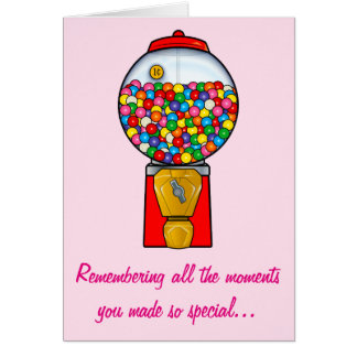 Happy Mother's Day Sweet Memories Gum Ball Card