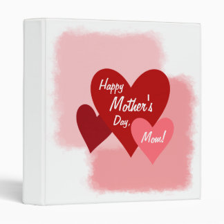 Happy Mother's Day Templates 3 Ring Binder