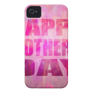 Happy Mothers Day Text Floral Background Case-Mate iPhone 4 Cases