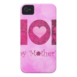 Happy Mothers Day Text Floral Background iPhone 4 Case-Mate Cases