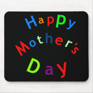 Happy Mothers Day Text Mousemats