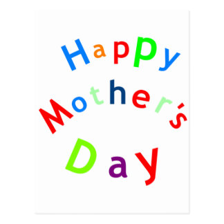 Happy Mothers Day Text Postcard