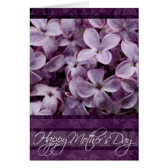 Happy  Mother's Day Textured Lilacs Card
