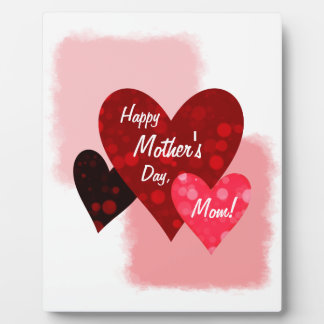 Happy Mother's Day Three Hearts Circles 3 Plaque