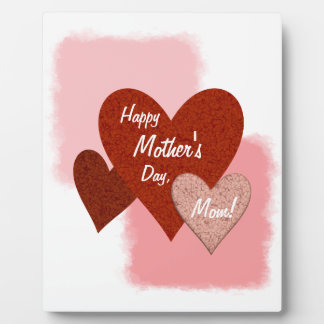 Happy Mother's Day Three Hearts Cracked Plaque