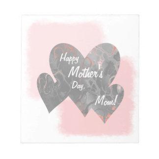 Happy Mother's Day Three Hearts Crazy 2 Notepad