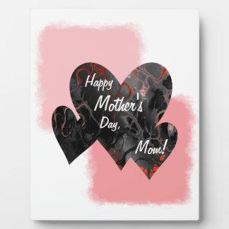 Happy Mother's Day Three Hearts Crazy 2 Plaque